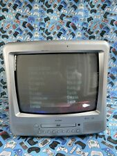 """More details for alba tvd3408/a 14"""" crt tv dvd combo combi retro gaming vintage"""