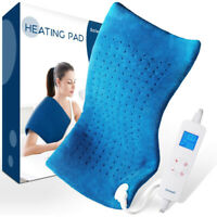 Extra Large Electric Heating Pad For Back Shoulders Neck Moist/Dry Heat Therapy