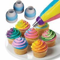 White Icing Piping Russian Nozzles Bag Cream Converter Coupler Cake Decor Tools