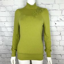 Escada Sport Women's Blouse XS Green Long Sleeve Embroidered