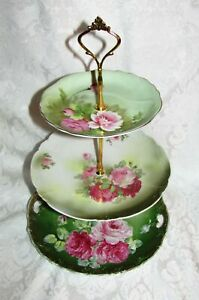 Custom Three Tier Tea Party Cake Stand Made With Vintage Plates