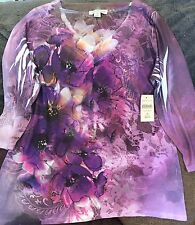 Coldwater Creek Floral Top Size Medium