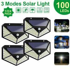 100 LED Solar Powered Light Outdoor PIR Motion Sensor Garden Security Wall Lamp