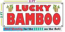 Full Color LUCKY BAMBOO Banner Sign NEW Larger Size Best Quality for the $$$