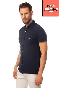 LIU JO UOMO Shirt Size 41 / 16 / L Split Hem Regular Collar Slim Fit LANDMC