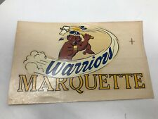 VINTAGE MARQUETTE WARRIORS NCAA PRO LAC DECAL STICKER