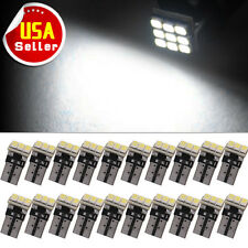 20x Pure White T10 Wedge LED 9-SMD Dome Map Light Bulbs W5W 194 168 2825 158