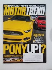Motor Trend Dec 2014 - Camaro SS 1LE vs Dodge Challenger R/T vs Ford Mustang GT