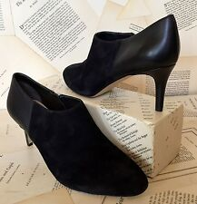 NEW Anthropologie Miss Albright black Suede Leather Side Zip Booties Shoes 9