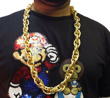 HIP HOP CHAIN NECKLACE • 33cm • GOLD STYLE • COSTUME #192
