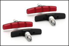 2,74€//Stück schwarz//rot 70mm XLC V-Brake Bremsschuhe BS-V01; 4er Set
