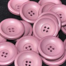 Mercerie lot de 6 boutons plastique violet 26mm button