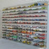 Model Car Display Case Hot Wheels Matchbox Compartment Diecast Accent Collection