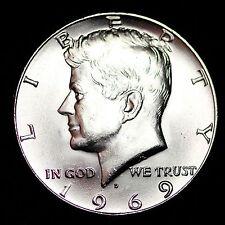 1969-D Kennedy 40% Silver Half Dollar GEM BU FREE SHIPPING