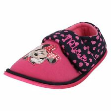 Disney Minnie Mouse Boarder Girls Slippers Pink/Navy  (R43A)