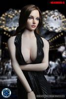 1/6 Super DUCK  Female Head Sculpt Brown Curls Hair SDH005A F 12'' Figure Model