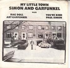 "SIMON & GARFUNKEL My Little Town PICTURE SLEEVE 7"" 45 record NEW + jukebox strip"