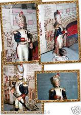 Soldato Porcellana STATUINA Capodimonte GRANATIERE GUARDIA IMPERIALE NAPOLEONE