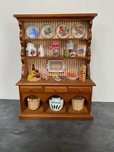 Pine Dresser ~ Gorgeous 1/12th Scale Miniature By Reutter Porzellan 1.745/2