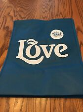 "(1)  Whole Foods  (Small)  ""Blue Love""   Reusable Grocery  Bag"