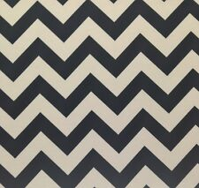 "CHEVRON BLACK NATURAL CANVAS FURNITURE MULTIUISE FABRIC BY THE YARD 56""W"