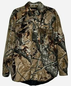 Outfitters Rdge Camo Quilt Lined Shirt Jacket size Medium Fusion 3-D