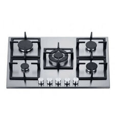 70cm Gas Cooktop 5 Burners Built In Stainless Steel for Kitchen