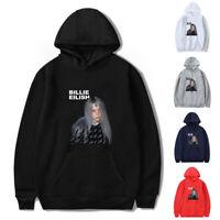 Billie Eilish Pullover Hoodie Cotton Sweater Print Singer Sweatshirt Fans