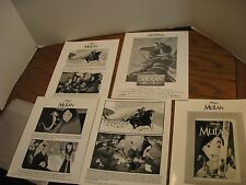Disney Mulan Press Kit - Production Book, 4 Movie Stills 1999