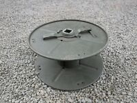 British Army Clansman D10 Metal Cable Reel Drum Dispenser GENUINE Ex MOD Don 10