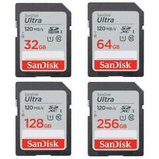 SanDisk Ultra SDHC Memory Card 120MBs Class 10 UHS-I 32GB 64GB 128GB 256GB