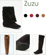 Women Mid Calf / Knee High Faux Shearling Sheepskin Fur Boots Winter Suede Boots