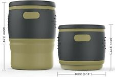 Silicone Collapsible Coffee Mug with Leakproof Lid and  Insulated Sleeve, 12oz