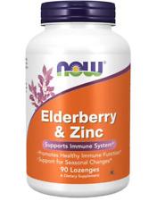 Now Foods Elderberry & Zinc 90 Lozenges  Immune Support
