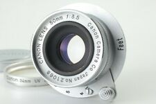 【RARE! NEAR MINT】 CANON 50mm f3.5 L39 LTM lens w/ Filter and cap From Japan