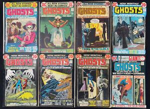 Ghosts #6-12 & #40 range; comic lot of 8 (DC 1972) Bronze Age Horror ~ Avg. 6.0