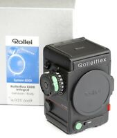✅ ROLLEI, ROLLEIFLEX 6008 INTEGRAL *MINT* BODY CAMERA W/ ORIG. CAPS & MAKERS BOX