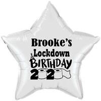 LOCKDOWN BIRTHDAY FOIL BALLOON - PERSONALISED