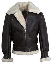 B3 Fliegerjacke Pilotenjacke Retro Lammfell-Lederjacke Real Leather Jacket Gr. S