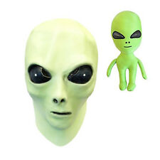 Glow in the Dark Alien Face Mask with Alien Plush Toy