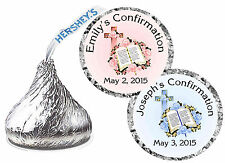 216 CONFIRMATION PARTY FAVORS HERSHEY KISS KISSES LABELS