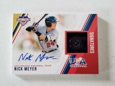 2018 USA Stars and Stripes Material Signatures Button #15 Nick Meyer SN 2/8