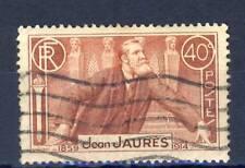 TIMBRE FRANCE OBLITERE N° 318 JEAN JAURES