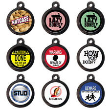 Funny Pet ID Tags Custom PET TAGS Dog Cat Name Discs For Collars - Personalised