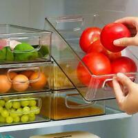 Kühlschrank Organizer Bins - Clear Kunststoff Pantry Lagerregal H7L8