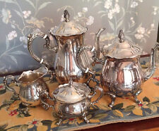 4 Pc. Silverplated tea service by Leonard