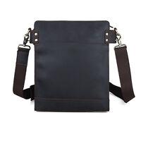 Vintage Men's Real Leather Sling Messenger Shoulder Bag School Bag Satchel New