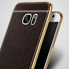 Luxury Ultra-thin PU Leather Soft TPU Back Case Cover For Samsung Galaxy S8 Plus