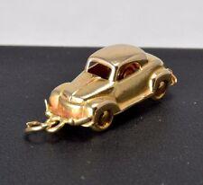 Vintage 18k Solid Gold Antique Car Buick Style Movable 3D Charm Pendant A18-323