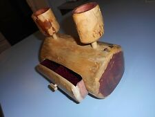 Unique Cedar Log Trinket Jewelry Box Candle Holder.
